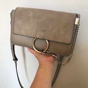 Chloe Small Faye in Motty Grey